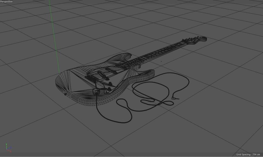 Electric Guitar Fender Stratocaster royalty-free 3d model - Preview no. 7