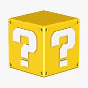 Żółty blok pytań Super Mario 3d model