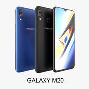 Samsung Galaxy M20 Black - Blu 3d model