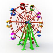 Cartoon Ferris Wheal 3d model