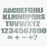 金属字母字母表 3d model