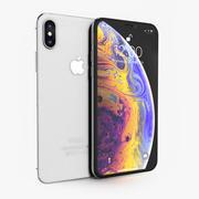Apple iPhone Xs Prateado 3d model
