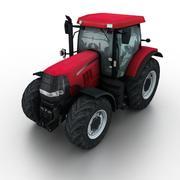 Трактор Красный 3d model