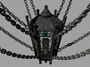 Gothic Chain Ceiling Lantern 3d model