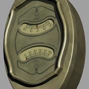 Buick Manomètre et jauge de pression atmosphérique en compteur 1928 3d model