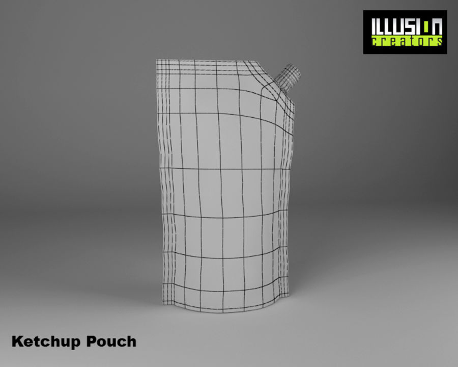 Pouch royalty-free 3d model - Preview no. 7