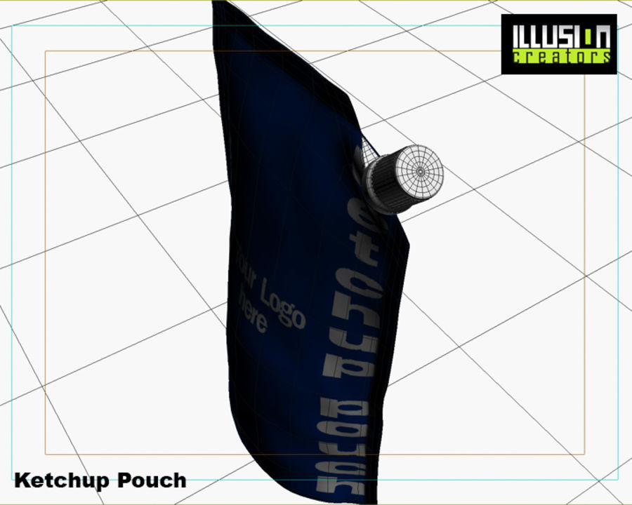 Pouch royalty-free 3d model - Preview no. 11