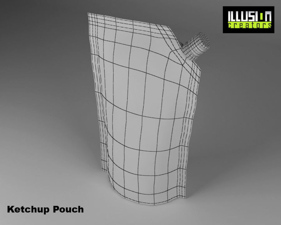 Pouch royalty-free 3d model - Preview no. 8