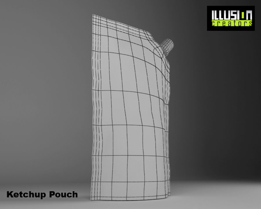 Pouch royalty-free 3d model - Preview no. 9
