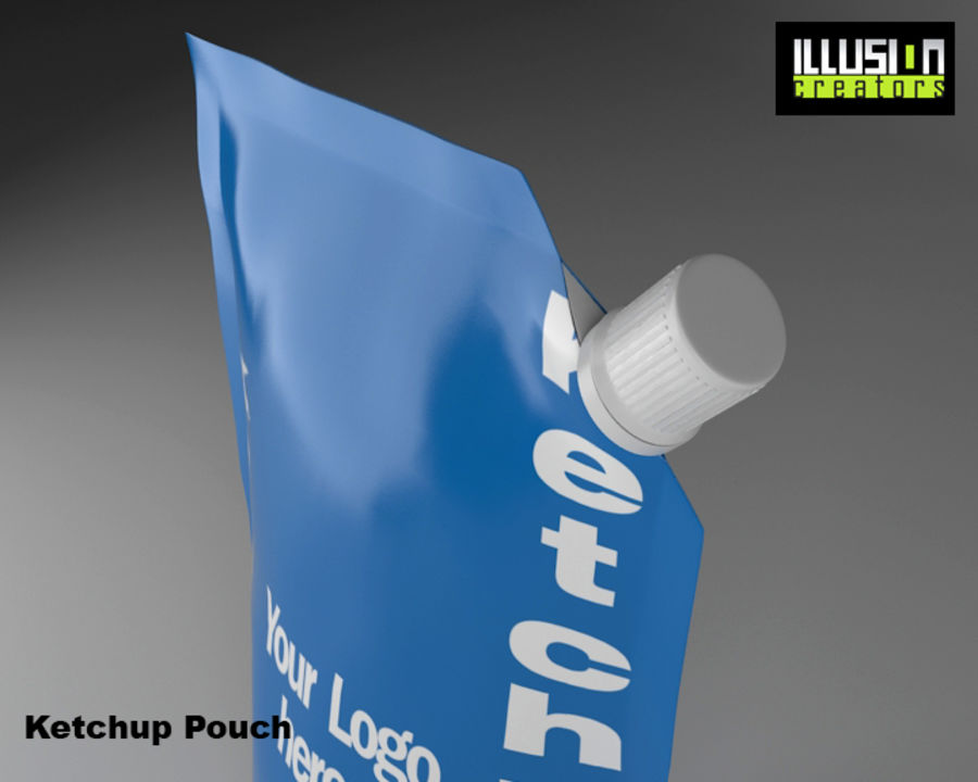 Pouch royalty-free 3d model - Preview no. 5