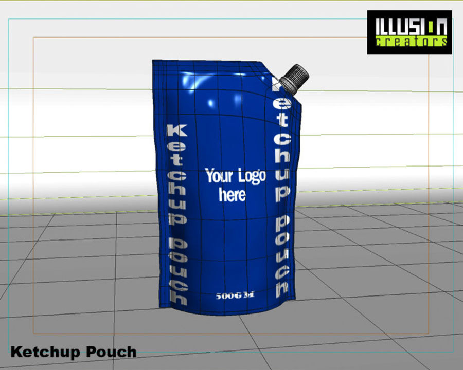 Pouch royalty-free 3d model - Preview no. 10