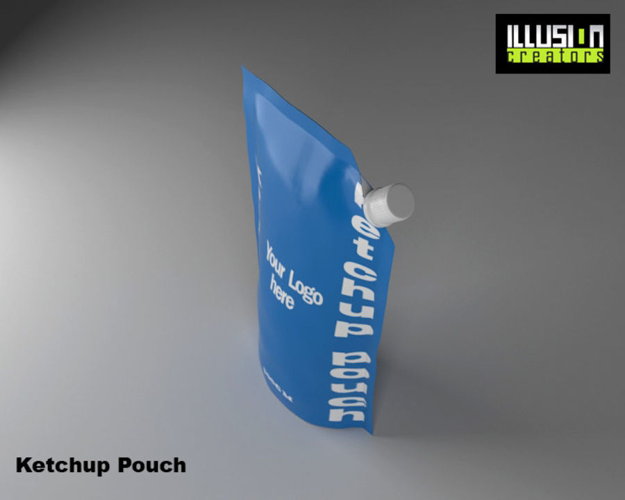 Pouch royalty-free 3d model - Preview no. 4