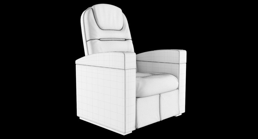 Cinema Chair royalty-free 3d model - Preview no. 12