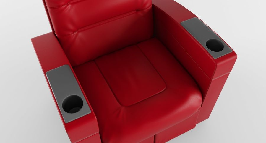 Cinema Chair royalty-free 3d model - Preview no. 8