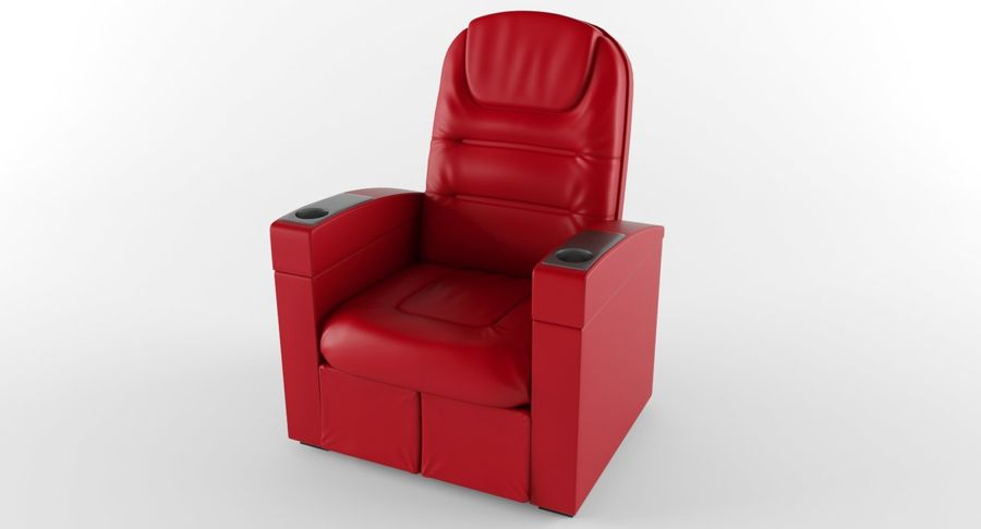 Cinema Chair royalty-free 3d model - Preview no. 4