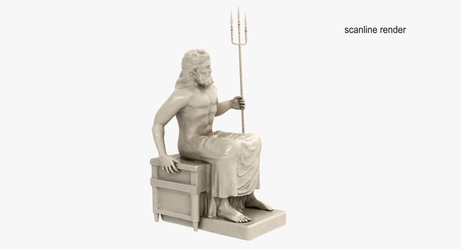 Standbeeld van Poseidon royalty-free 3d model - Preview no. 5