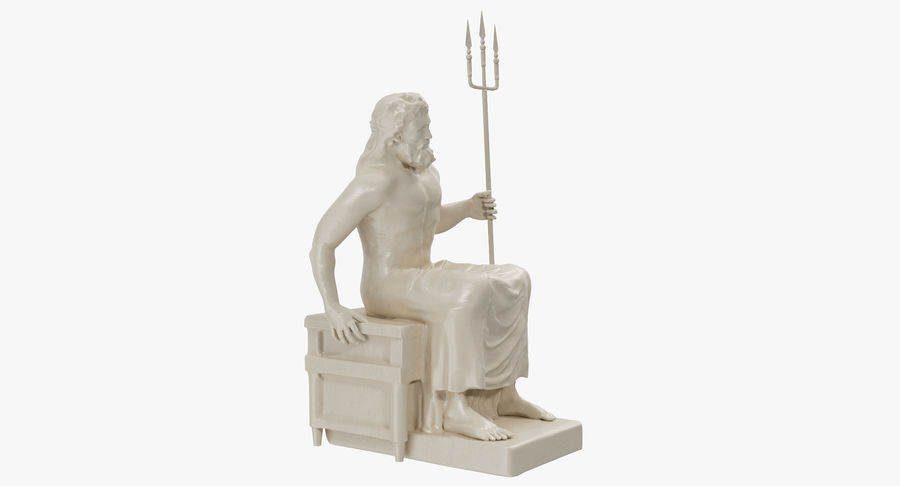Standbeeld van Poseidon royalty-free 3d model - Preview no. 7
