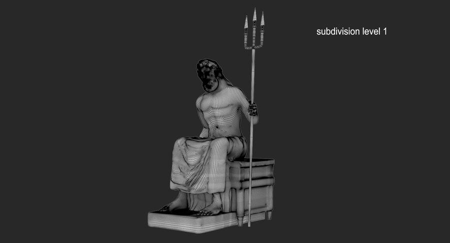 Standbeeld van Poseidon royalty-free 3d model - Preview no. 14