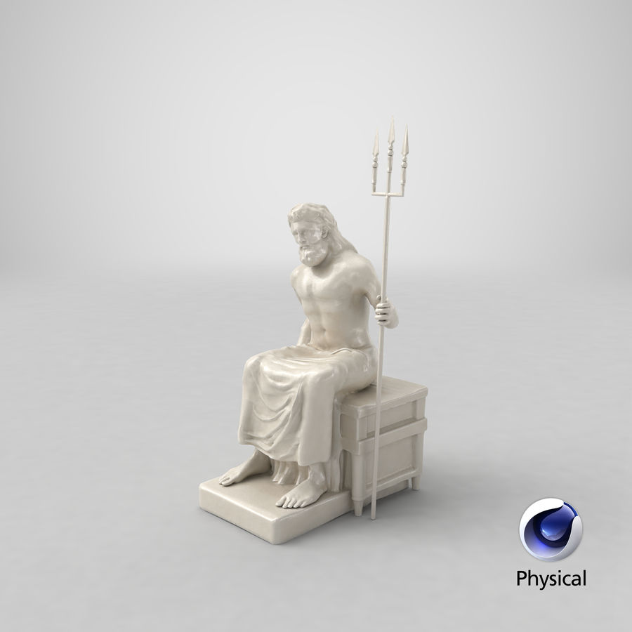Estátua de Poseidon royalty-free 3d model - Preview no. 20