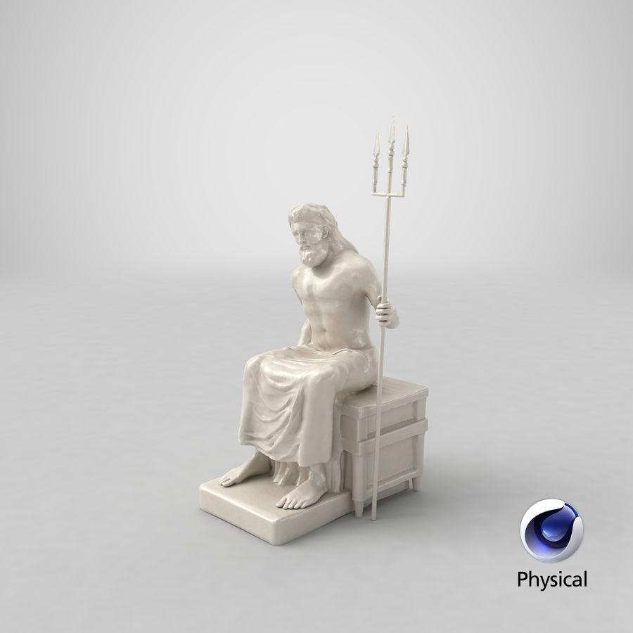 Standbeeld van Poseidon royalty-free 3d model - Preview no. 20