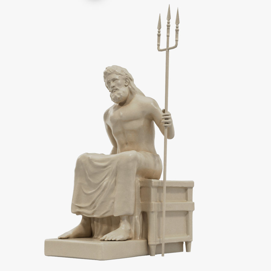 Standbeeld van Poseidon royalty-free 3d model - Preview no. 1