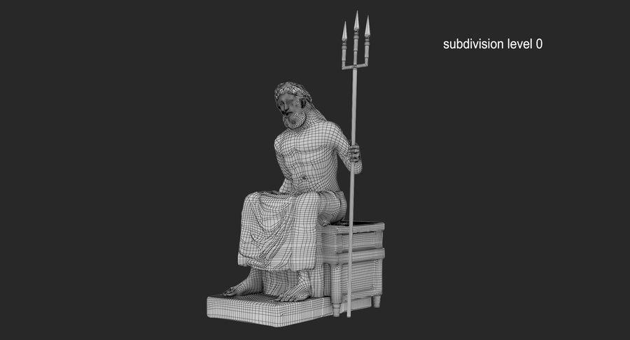 Estátua de Poseidon royalty-free 3d model - Preview no. 13