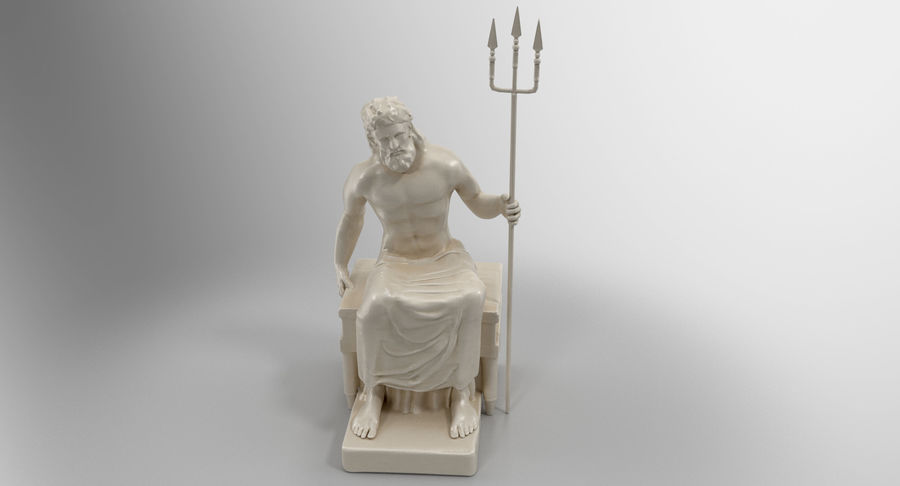 Standbeeld van Poseidon royalty-free 3d model - Preview no. 8