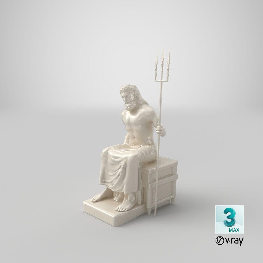 Standbeeld van Poseidon royalty-free 3d model - Preview no. 18