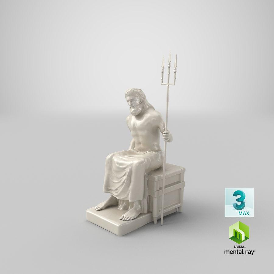 Standbeeld van Poseidon royalty-free 3d model - Preview no. 19