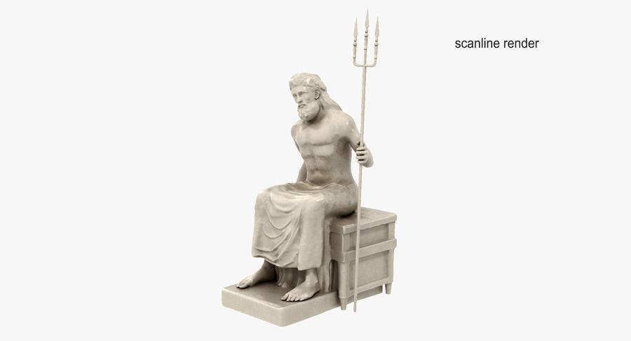 Estátua de Poseidon royalty-free 3d model - Preview no. 4