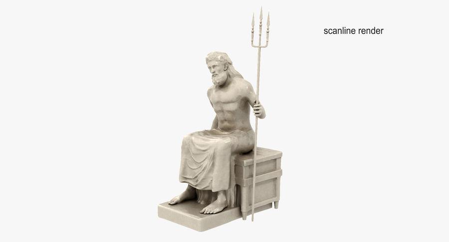 Standbeeld van Poseidon royalty-free 3d model - Preview no. 4
