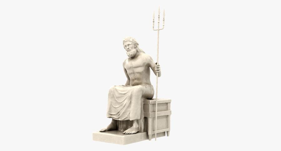 Standbeeld van Poseidon royalty-free 3d model - Preview no. 12