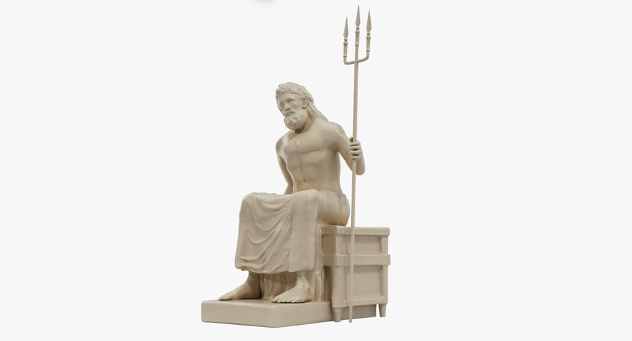 Staty av Poseidon royalty-free 3d model - Preview no. 2