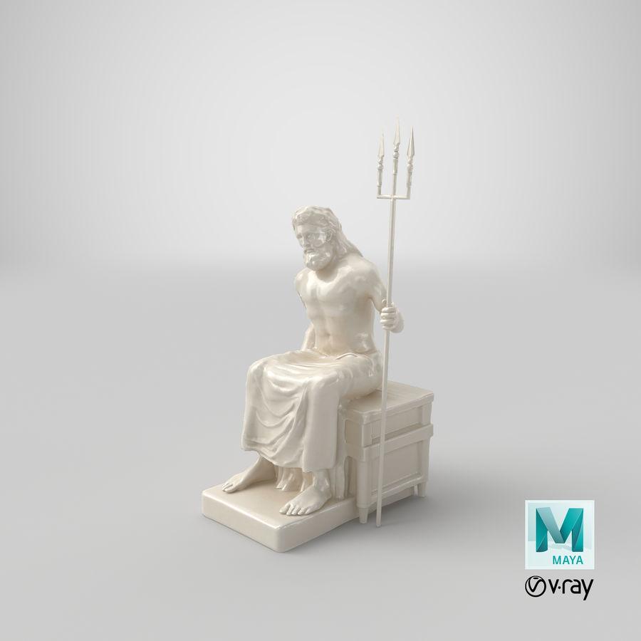 Standbeeld van Poseidon royalty-free 3d model - Preview no. 16