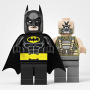 Batman vs Bane 3d model