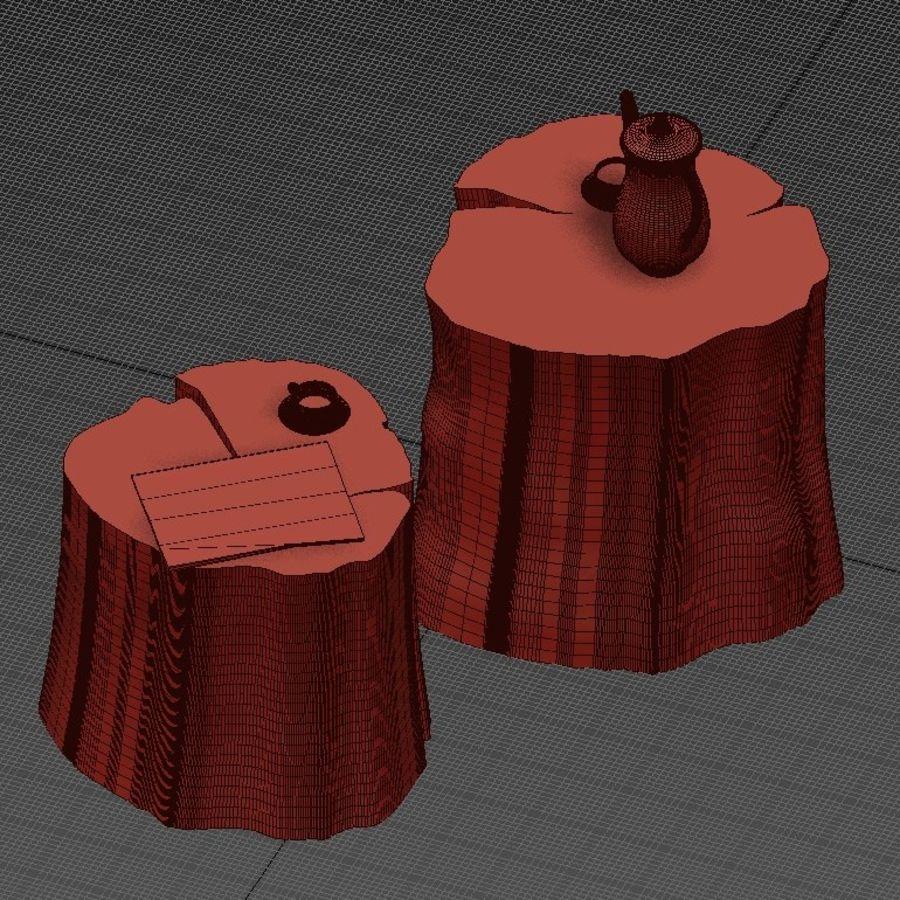 Twee tafels met stronken royalty-free 3d model - Preview no. 9