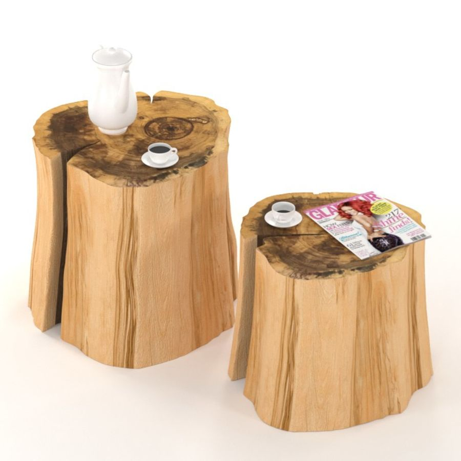 Twee tafels met stronken royalty-free 3d model - Preview no. 1