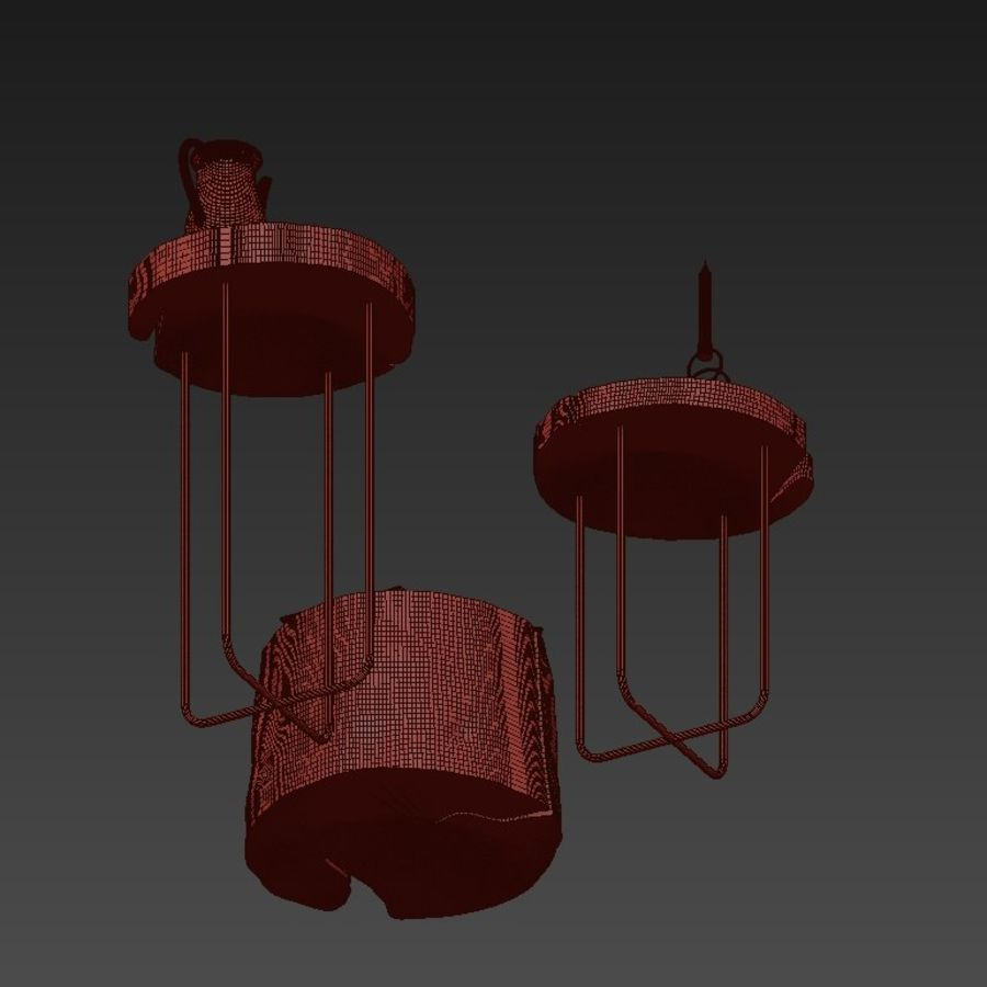 A set of tables from slab and stumps royalty-free 3d model - Preview no. 19