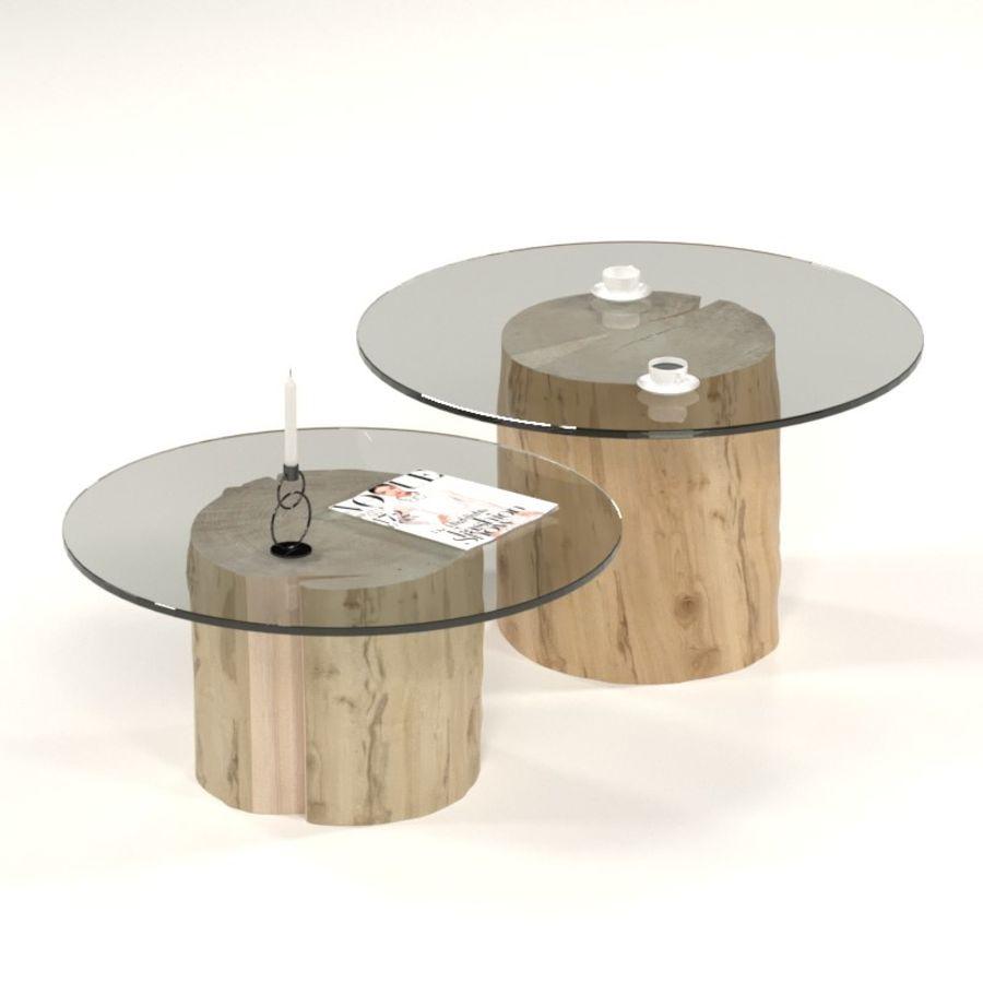 Glazen tafels van stronken royalty-free 3d model - Preview no. 1