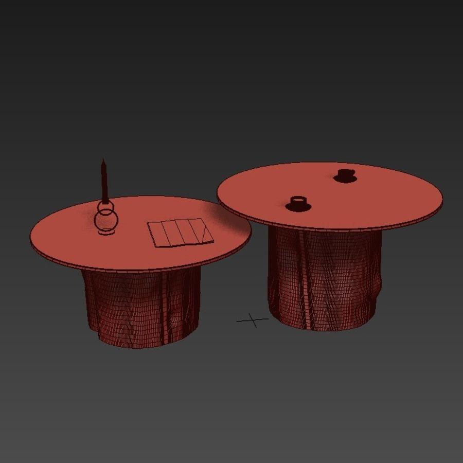 Glazen tafels van stronken royalty-free 3d model - Preview no. 5