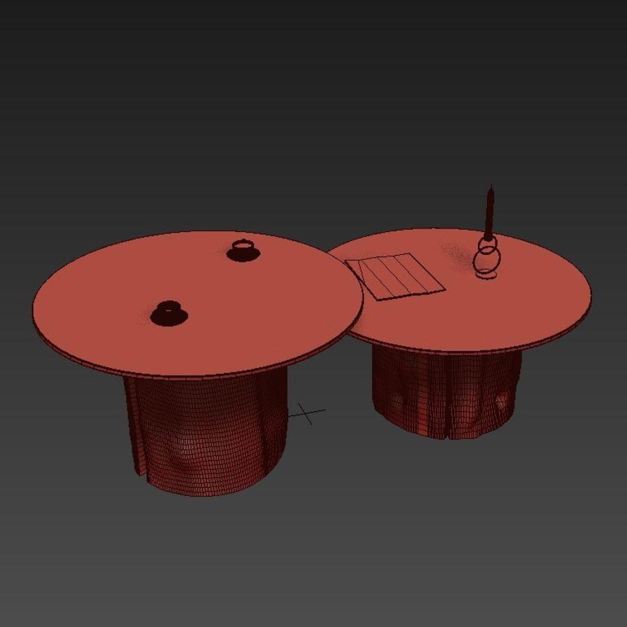 Glazen tafels van stronken royalty-free 3d model - Preview no. 13