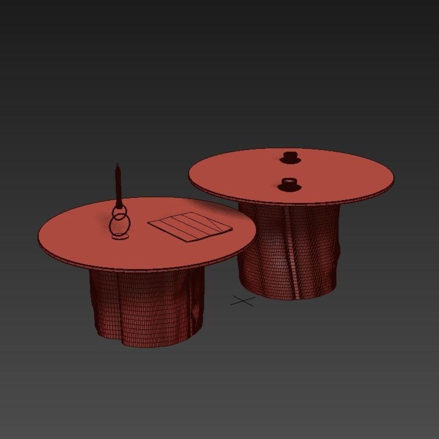 Glazen tafels van stronken royalty-free 3d model - Preview no. 4