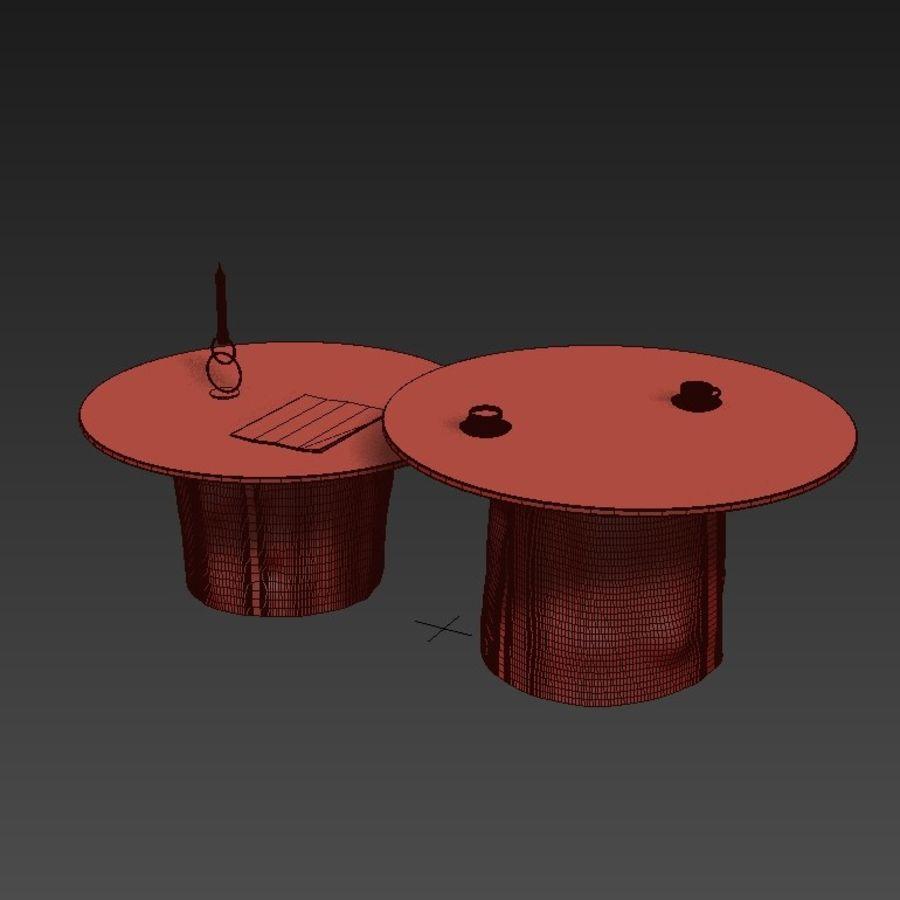 Glazen tafels van stronken royalty-free 3d model - Preview no. 7