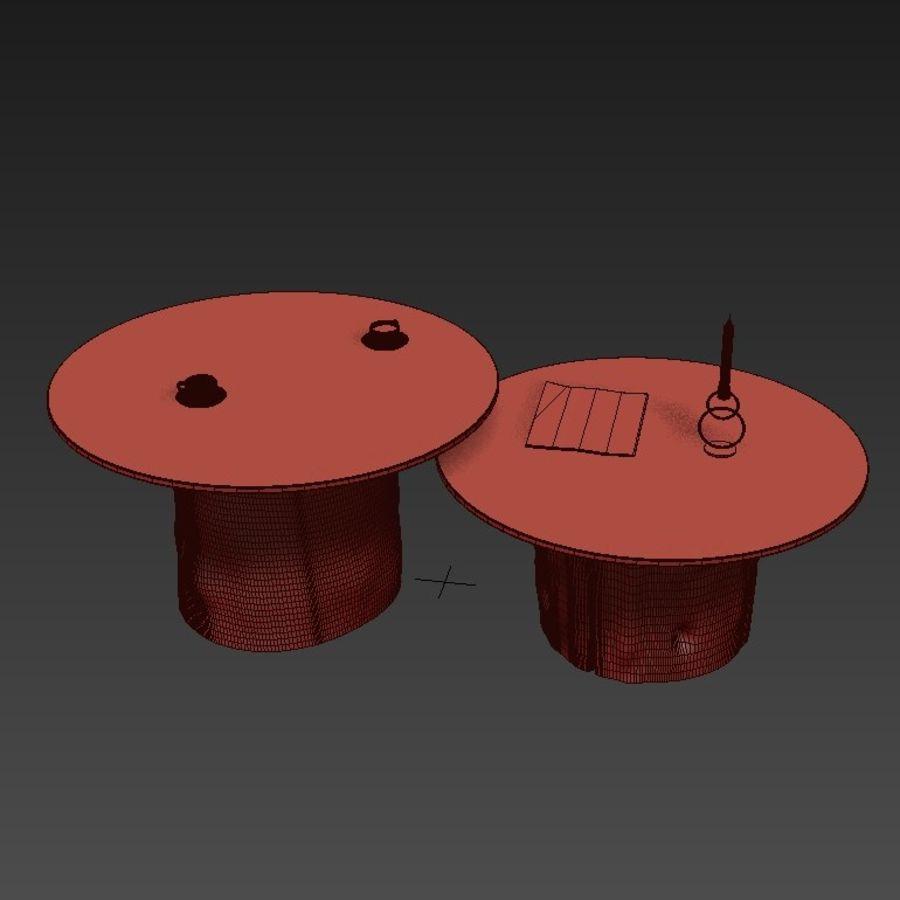 Glazen tafels van stronken royalty-free 3d model - Preview no. 14