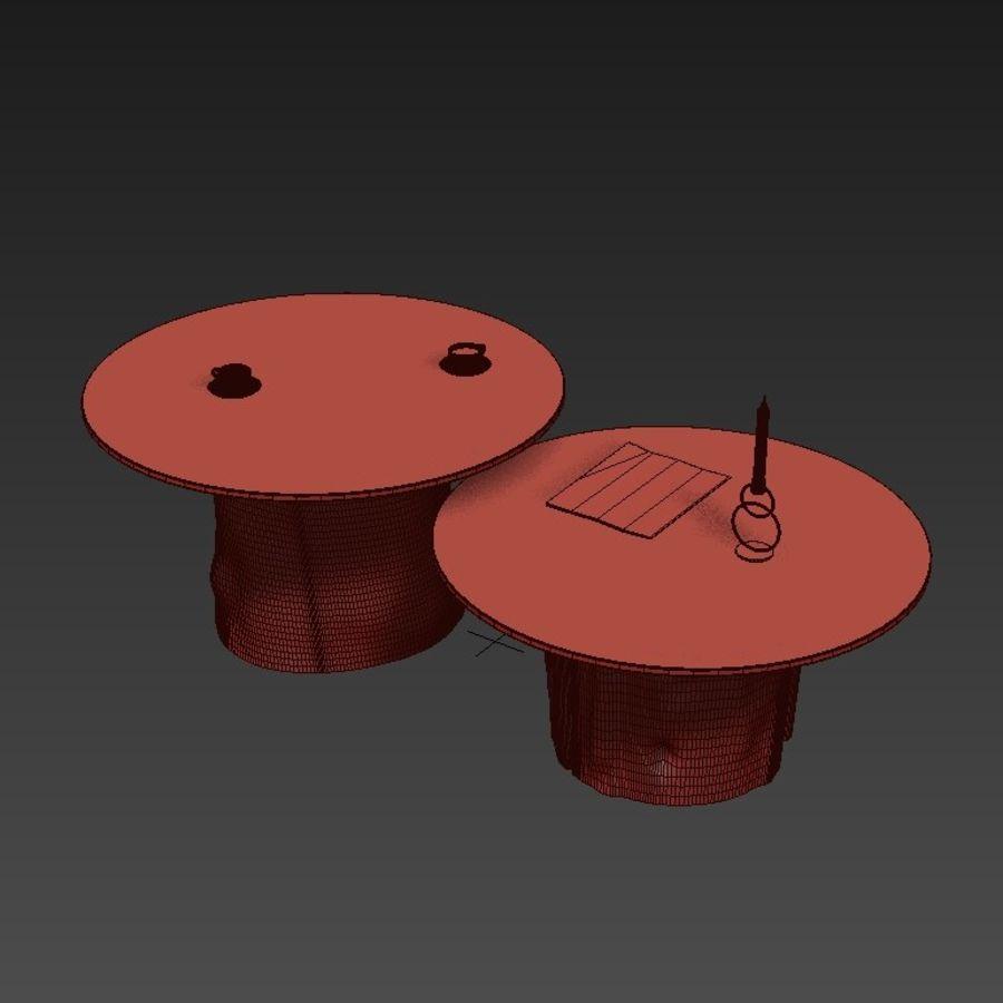 Glazen tafels van stronken royalty-free 3d model - Preview no. 15
