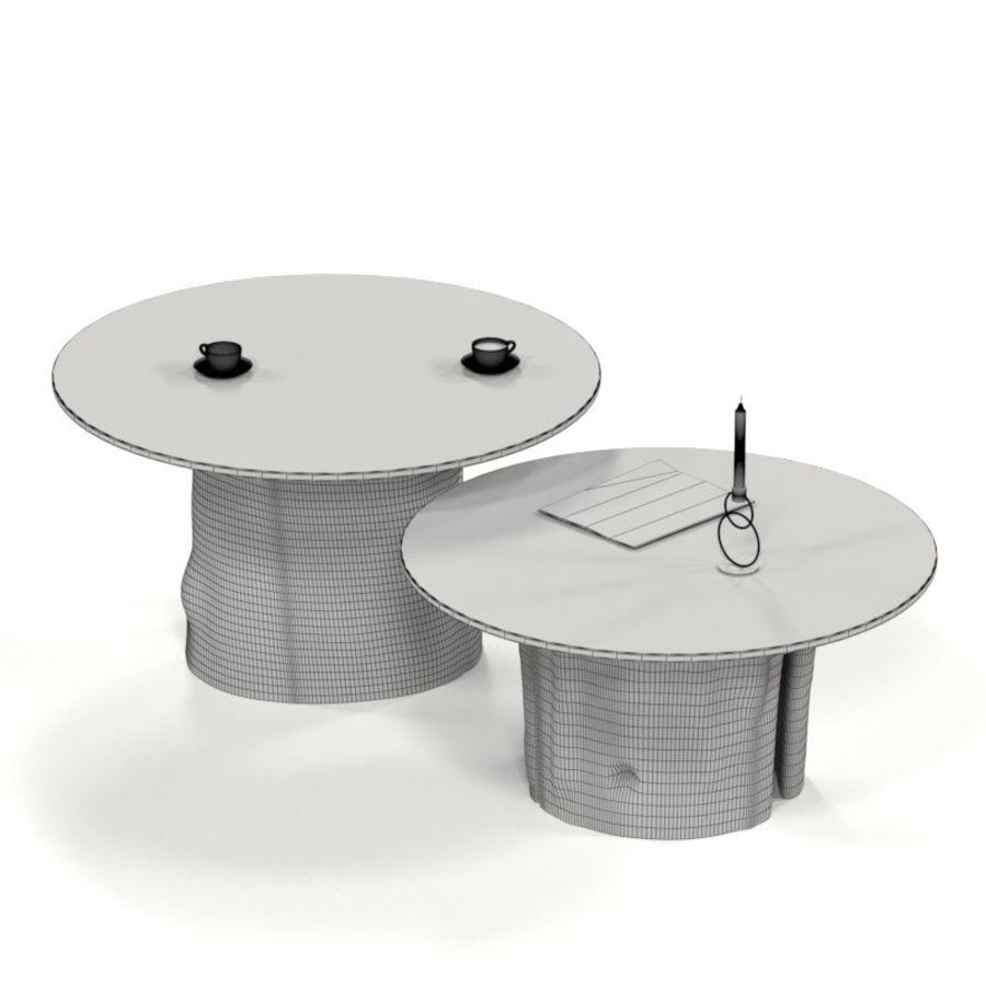 Glazen tafels van stronken royalty-free 3d model - Preview no. 3
