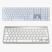 Apple Wireless Keyboards 3D-modellencollectie 3d model