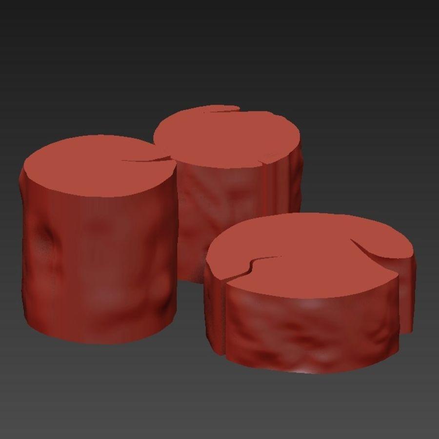3 커피 테이블 그루터기 royalty-free 3d model - Preview no. 23