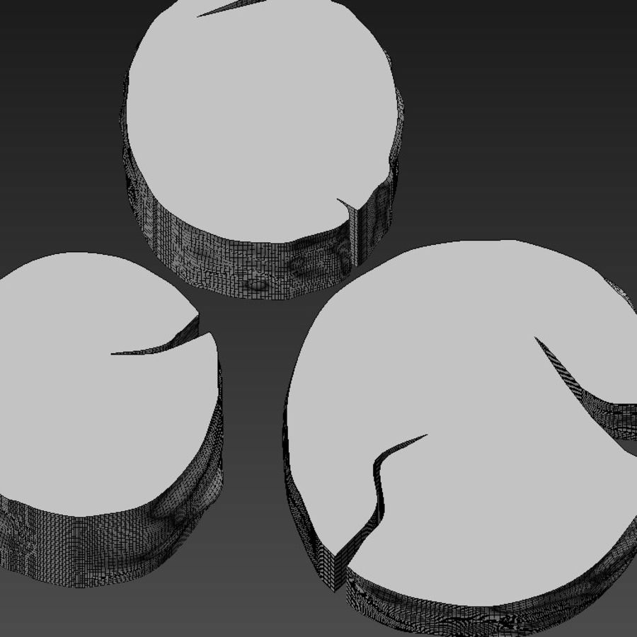 3 커피 테이블 그루터기 royalty-free 3d model - Preview no. 35