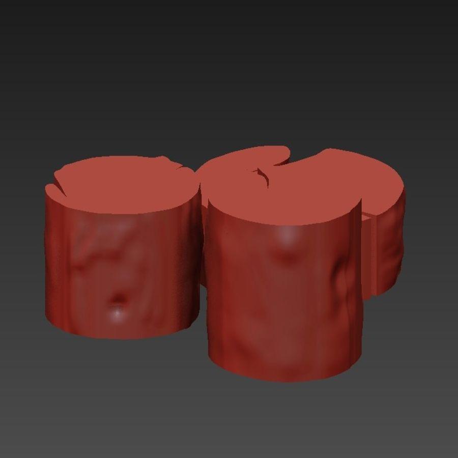 3 커피 테이블 그루터기 royalty-free 3d model - Preview no. 18